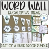 Word Wall Toppers Cards and Lists Eucalyptus Theme