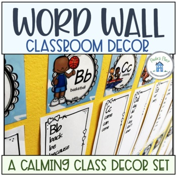 Word Wall Toppers Blue and Green Theme