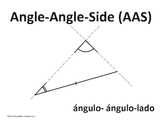 Word Wall - Triangle Congruence (ELL & English Only)