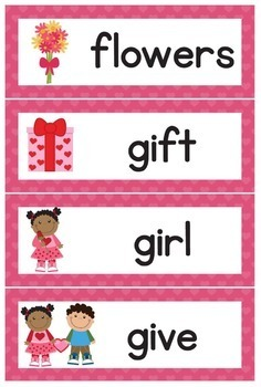 Word Wall - Valentine's Day 30 Vocab Words