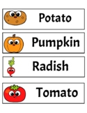 Word Wall Vegetable Themed