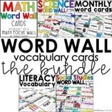 Word Wall Vocabulary Cards Bundle Kinder-2nd grade