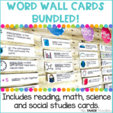 Word Wall Vocabulary Cards Bundled!