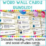 Word Wall Vocabulary Cards Bundled!