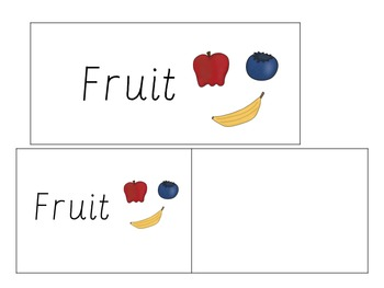 Word Wall Vocabulary Cards-Fruit (English)