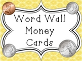 Word Wall Vocabulary Cards-Money (English)
