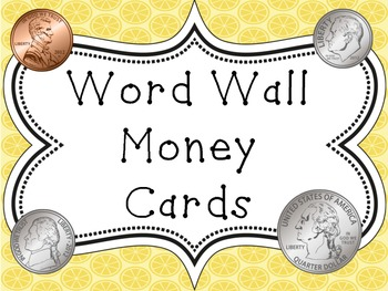 Word Wall Vocabulary Cards-Money (English)