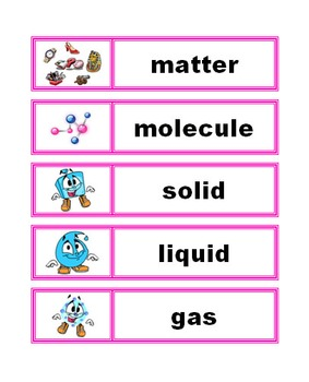 Word Wall Vocabulary Cards: Science Bundle