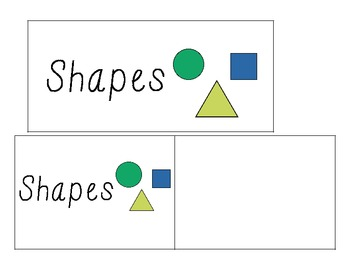Word Wall Vocabulary Cards-Shapes (English)