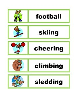 Word Wall Vocabulary Cards: Sports
