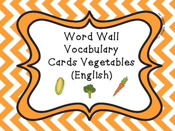 Word Wall Vocabulary Cards-Vegetables (English)