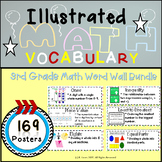 Word Wall Vocabulary Posters for 3rd Grade Math Units | 169 Words!!!