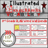 Word Wall Vocabulary Posters for 3rd Grade Reading/ Writing Units | 117 Words!!!