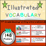 Word Wall Vocabulary Posters for 4th Grade Reading/Writing Units | 148 Words!!!