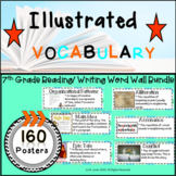 Word Wall Vocabulary Posters for 7th Grade Reading/ Writing Units | 160 Words!!!