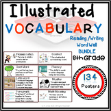 Word Wall Vocabulary Posters for 8th Grade Reading/ Write English | 134 Words!!
