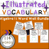 Word Wall Vocabulary Posters for Algebra 2 Units High School | 114 Words!!!