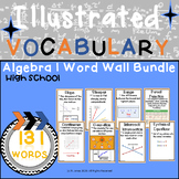 Word Wall Vocabulary Posters for Algebra I Units High School | 131 Words!!!