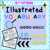 Word Wall Vocabulary Posters for All Science Units 6th Grade 210 WORDS!!!