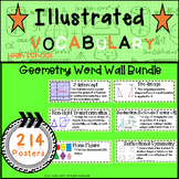 Word Wall Vocabulary Posters for Geometry Units High School | 214 Words!!!