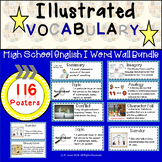 Word Wall Vocabulary Posters for High School English 1 Units  | 116 Words!!!