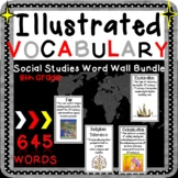 Word Wall Vocabulary Posters for Social Studies Units 8th Grade 640 WORDS!!!