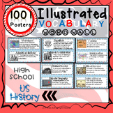 Word Wall Vocabulary Posters for US HISTORY Units HIGH SCHOOL 1001 WORDS!!!