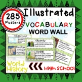 Word Wall Vocabulary Posters for WORLD HISTORY Units HIGH SCHOOL 285 WORDS!!!
