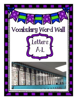 Word Wall Vocabulary Words