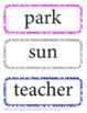 End of the Year and Summer Vocabulary Word Wall