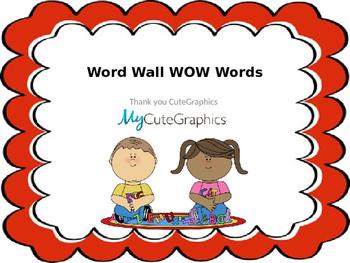 Word Wall- WOW Words- Editable