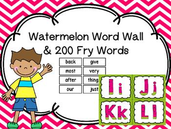 Word Wall Watermelon Theme