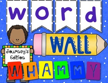 Word Wall Whammy! Word Wall & Sight Word Game