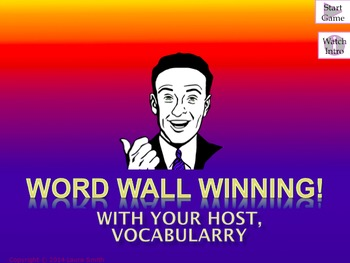 Word Wall Winning: Powerpoint Review Game