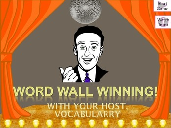 Word Wall Winning: Powerpoint Review Game (Version 2)