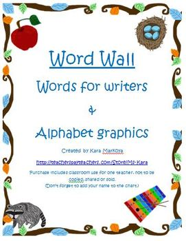 Word Wall With Alphabet and Graphics