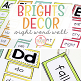 SIGHT WORD WALL CARDS - EDITABLE {BRIGHTS CLASSROOM DECOR}