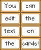 Word Wall and Sight Word Cards - Editable {Brights Classroom Set}