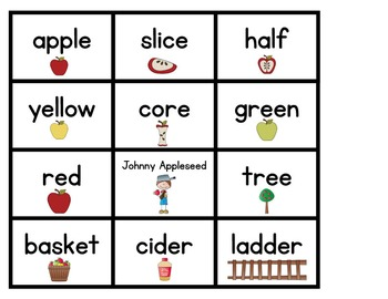 Apple Word Wall Activities