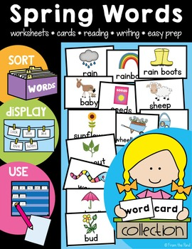 Spring Word Wall Cards