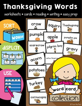 Thanksgiving - Word Cards and Activities