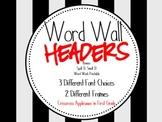 Word Wall, Wonderful Word Wall