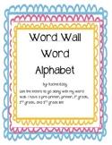 Word Wall Word Alphabet
