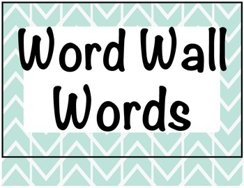 Word Wall Word Alphabet Letters
