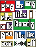 Word Wall Word Cards 1