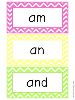 Word Wall Word Cards (200+): Chevron