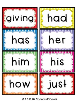 Word Wall Word Cards