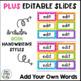 Word Wall Word Cards~ Bright Chevron Theme (Editable)