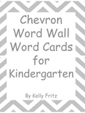 Word Wall Word Cards Chevron