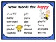 Word Wall Word Cards Editable